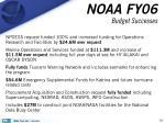 noaa fy06 budget successes