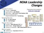 noaa leadership changes