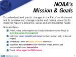 noaa s mission goals