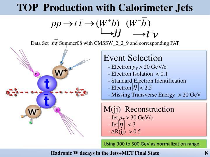 TOP  Production with Calorimeter Jets