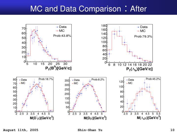 MC and Data Comparison