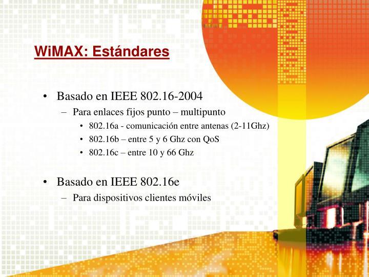 WiMAX: Estándares