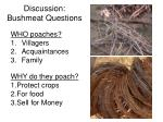 discussion bushmeat questions1