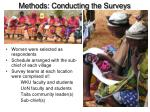 methods conducting the surveys