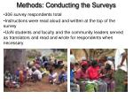 methods conducting the surveys1