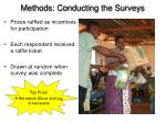 methods conducting the surveys2
