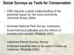 social surveys as tools for conservation