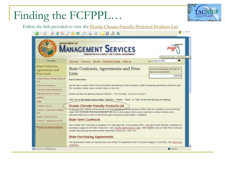 Finding the FCFPPL…