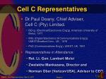 cell c representatives