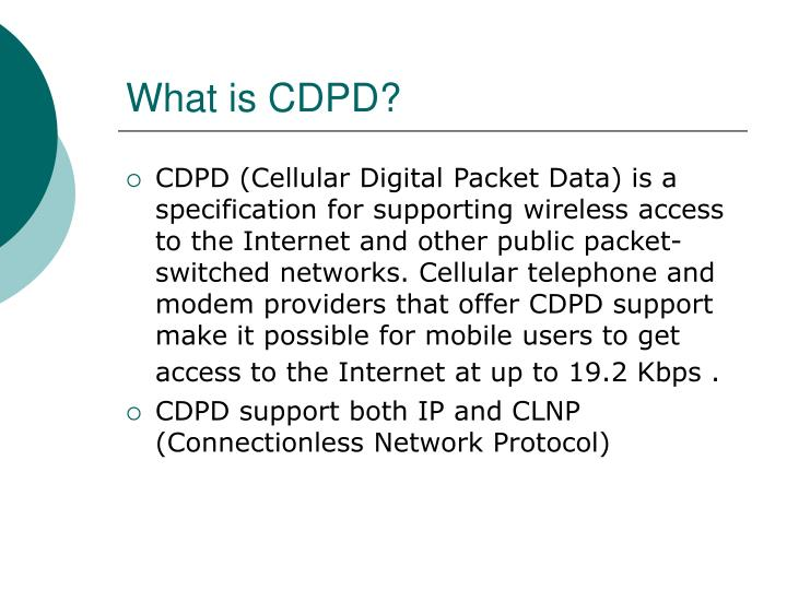 What is cdpd