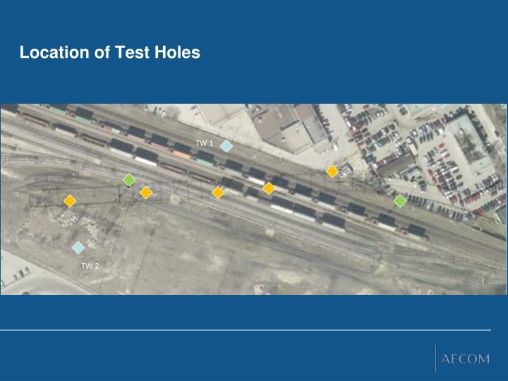 Location of Test Holes