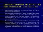 distributed dbms architecture mdbs architecture models without a gcs1
