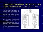 distributed dbms architecture mdbs architecture models without a gcs2