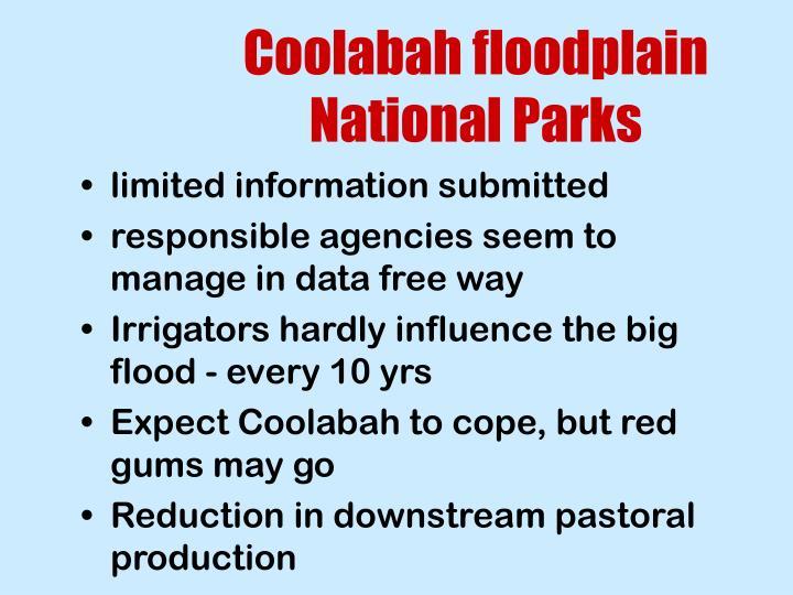 Coolabah floodplain National Parks