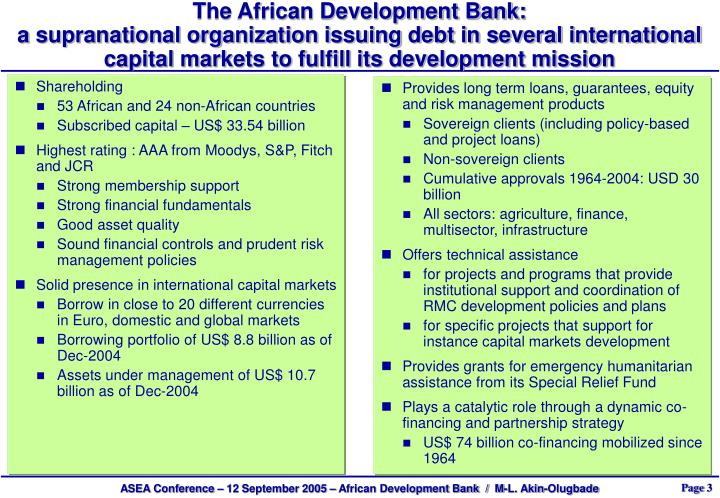The African Development Bank: