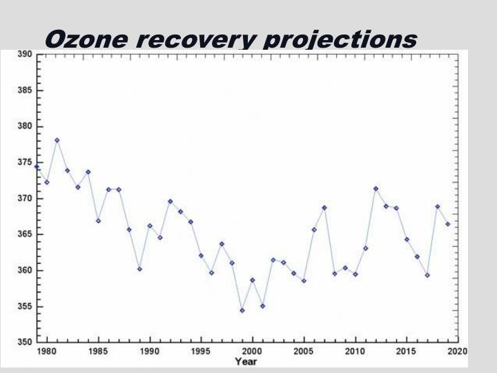 Ozone recovery projections