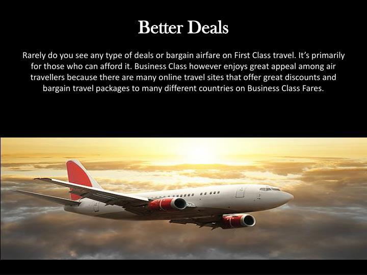 Better Deals