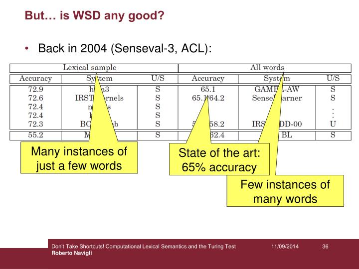 But… is WSD any good?