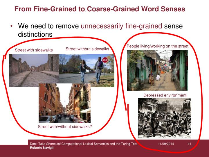 From Fine-Grained to Coarse-Grained Word Senses