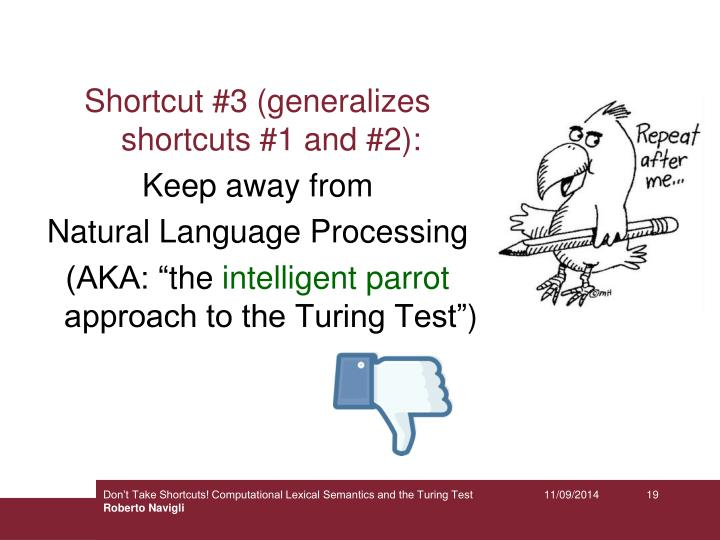Shortcut #3 (generalizes shortcuts #1 and #2):