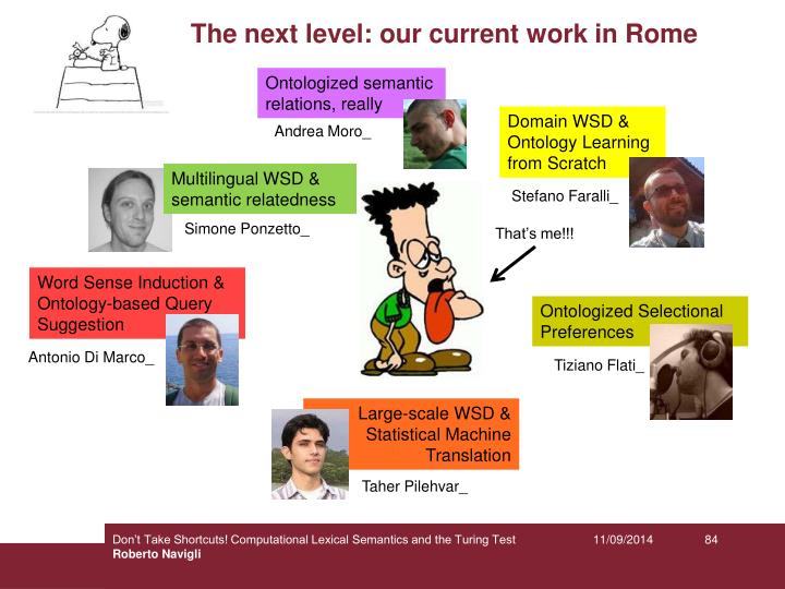The next level: our current work in Rome