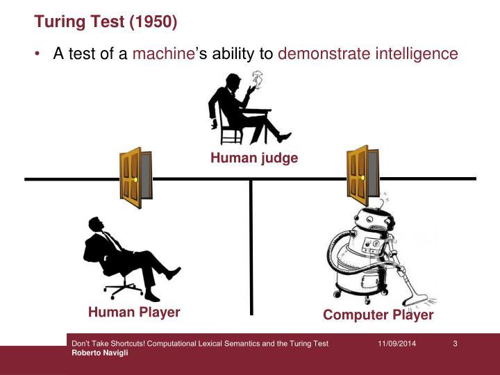 Turing test 19501
