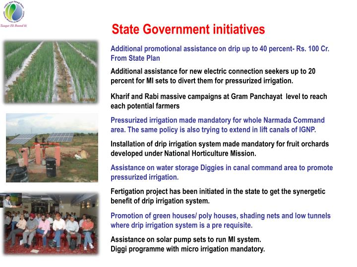 State Government initiatives