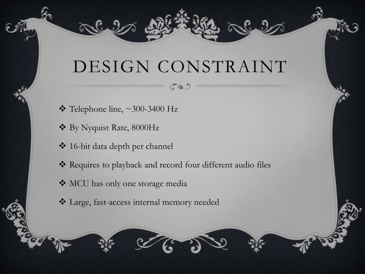 Design constraint