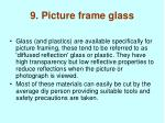 9 picture frame glass