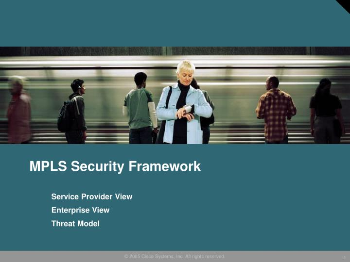 MPLS Security Framework