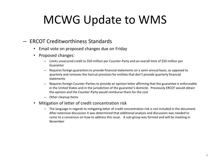 Mcwg update to wms2