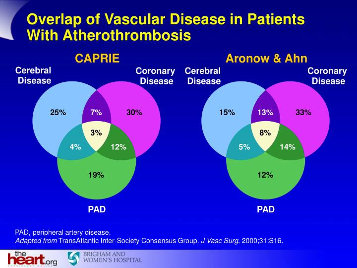 Overlap of Vascular Disease in Patients