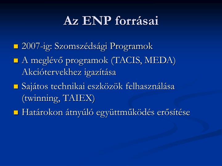 Az ENP forrásai