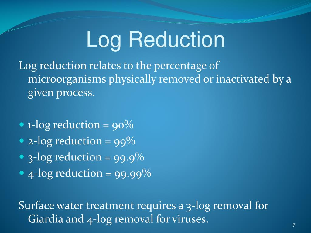 giardia removal water treatment