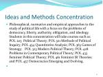 ideas and methods concentration