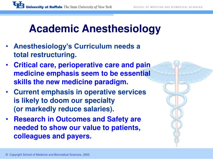 Academic Anesthesiology