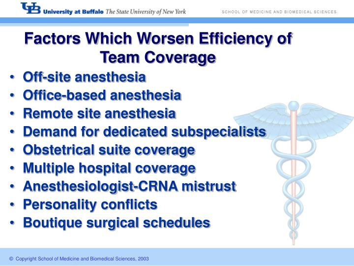 Factors Which Worsen Efficiency of Team Coverage