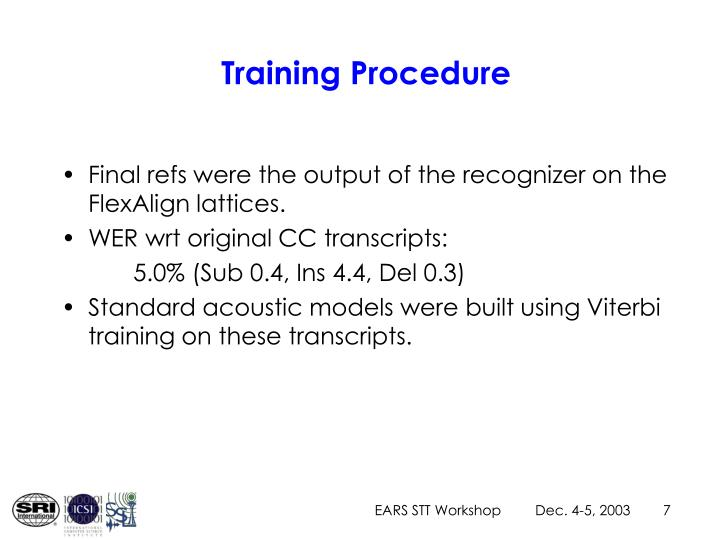 Training Procedure