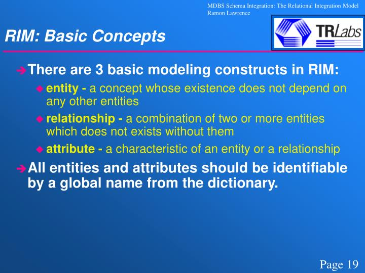 RIM: Basic Concepts