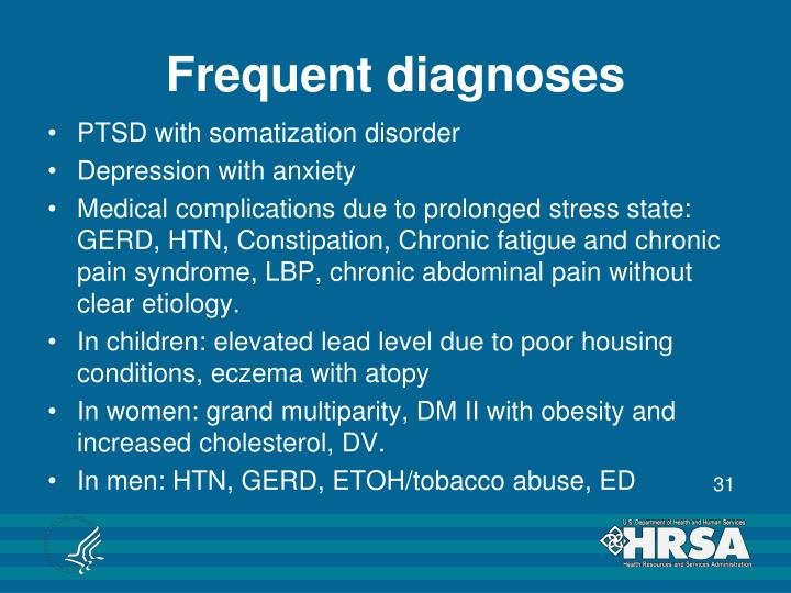 Frequent diagnoses