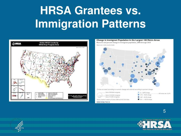 HRSA Grantees vs. Immigration Patterns
