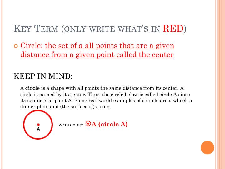 Key term only write what s in red