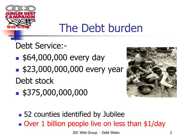 The debt burden