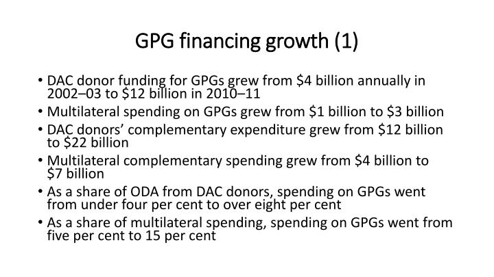 GPG financing growth (1)