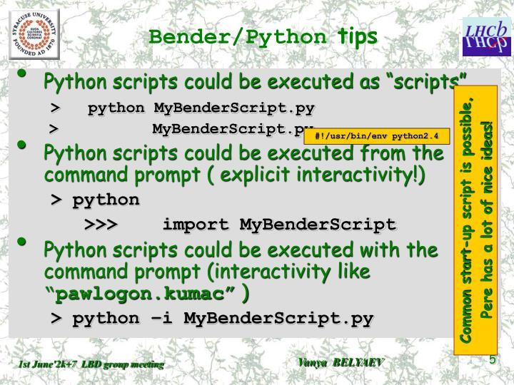 Bender/Python