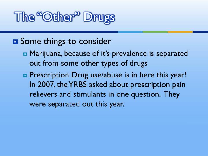 """The """"Other"""" Drugs"""