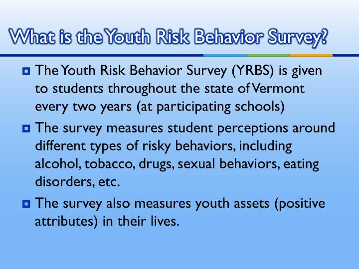 What is the youth risk behavior survey