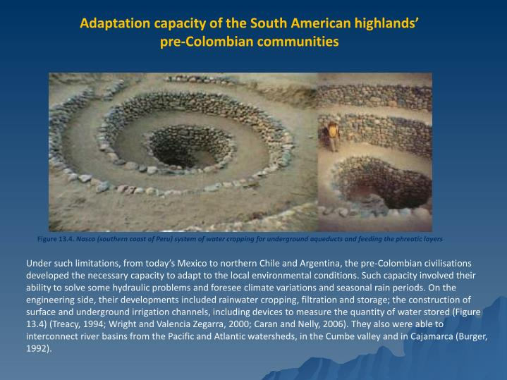 Adaptation capacity of the South American highlands'