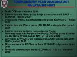 kompleksowy plan dzia ania act na lata 2011 2013