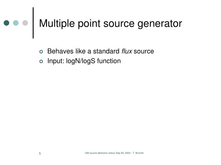 Multiple point source generator